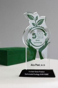 GAIA AWARDS 2014 Dubai pro Alcaplast