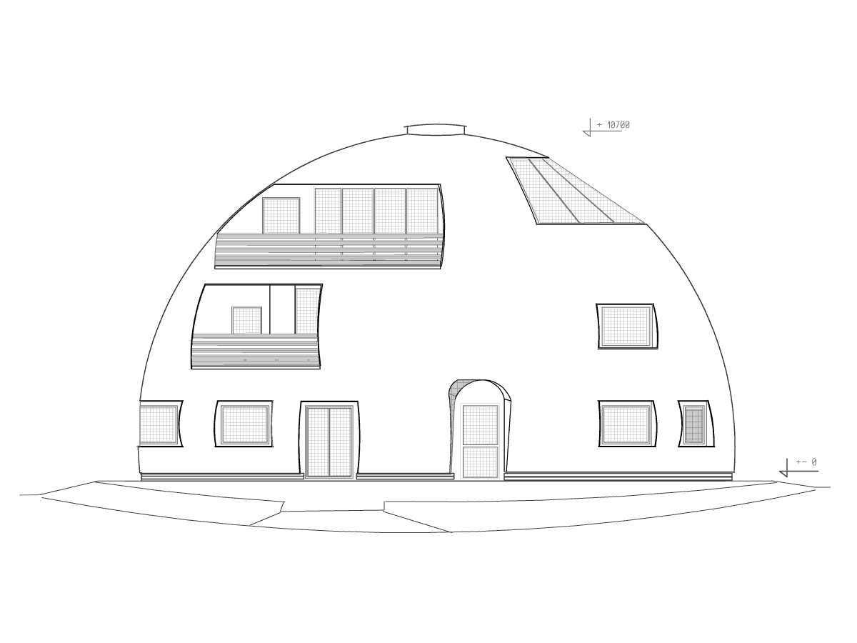 Kulaté domy - rd_mstisov_pohled