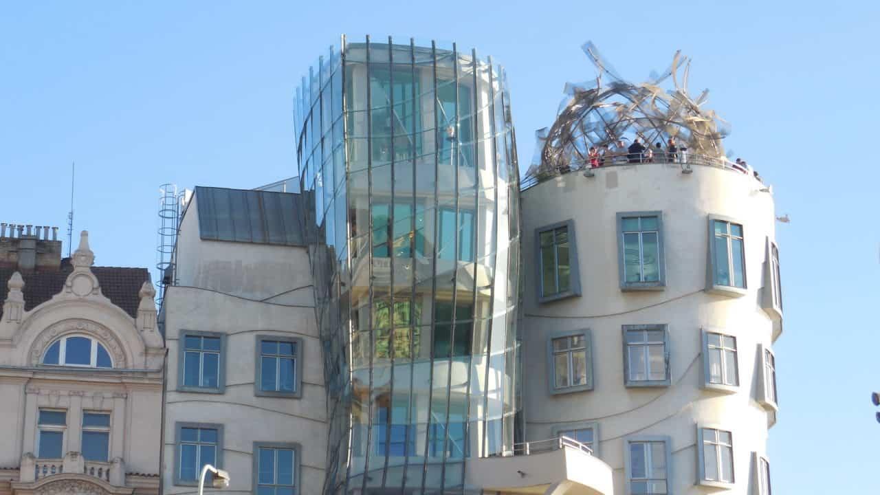 Retro výstava - Tančící dům 03 - střecha, restaurace, kavárna, vyhlídka