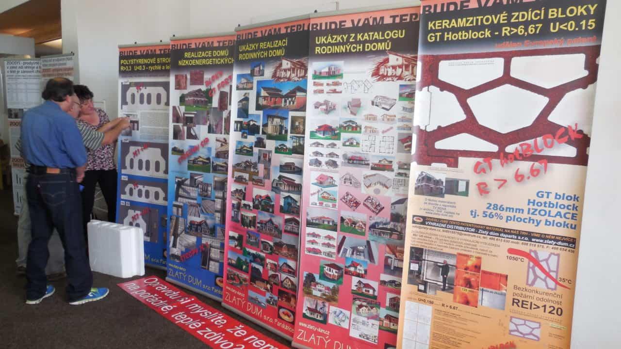 21. stavební výstava Pardubice - podzim 2016 - interiér - Zlatý dům
