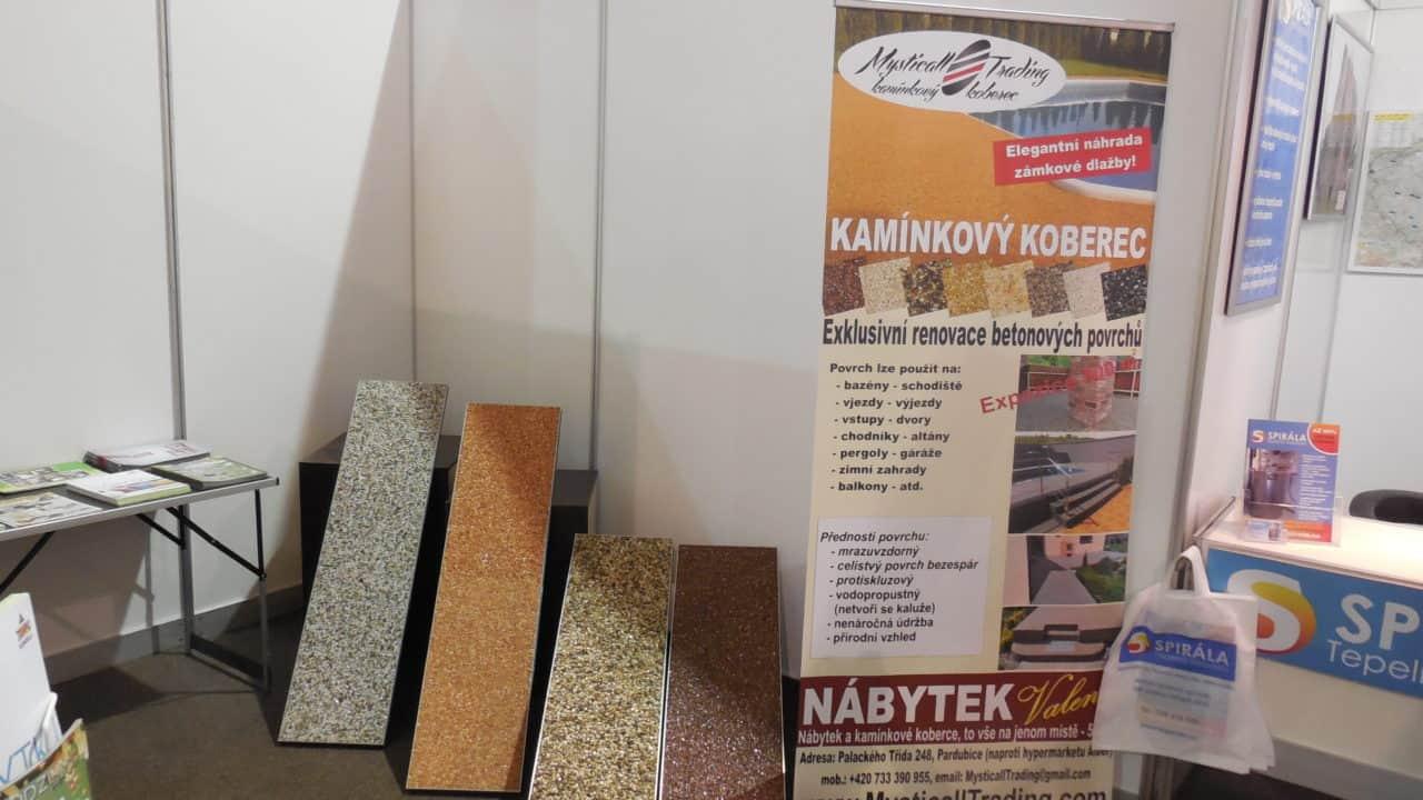 21. stavební výstava Pardubice - podzim 2016 - interiér - kamínkový koberec 01