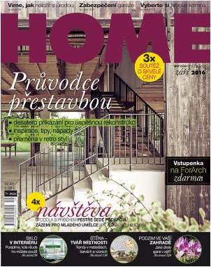HOME bydlení časopis září 2016