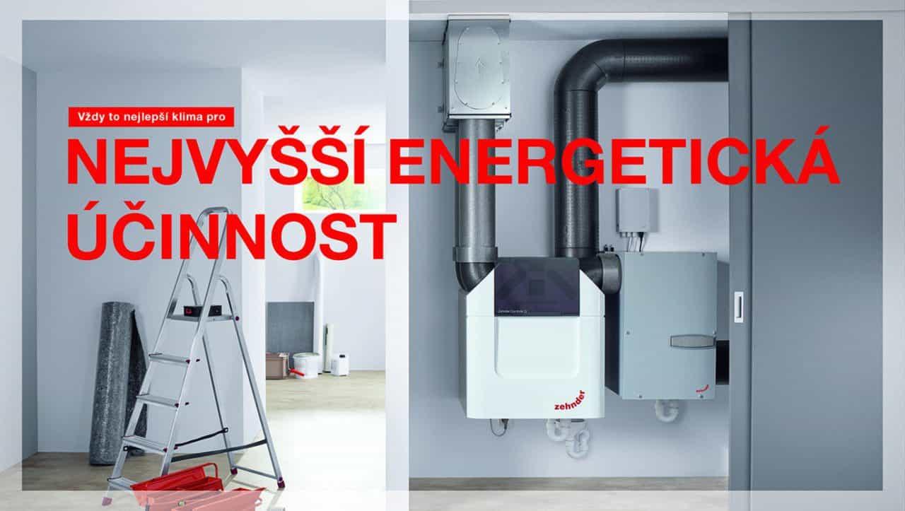 Zehnder - nejvyšší energetická účinnost