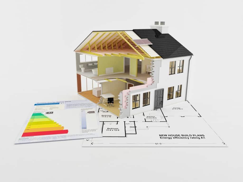 Energetická náročnost budovy - ilustrační model rodinného domu