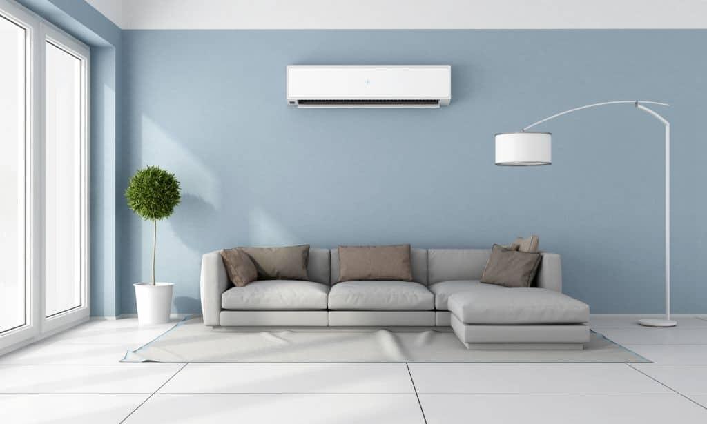 Klmatizace v obývacím pokoji