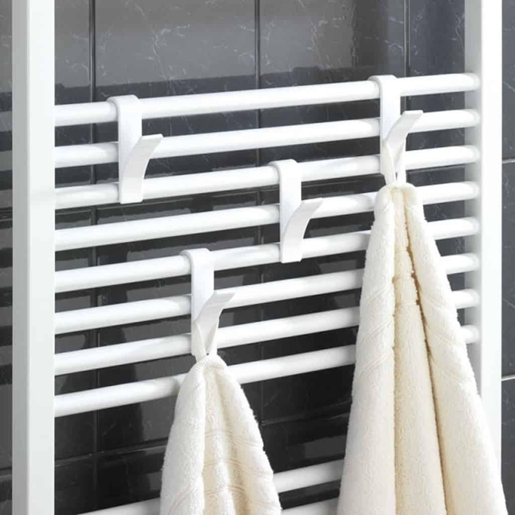Koupelnový žebřík bílý se sušením ručníků