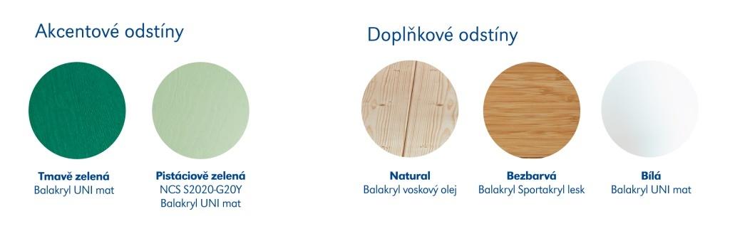 Balakryl - akcentové barvy také v předsíni