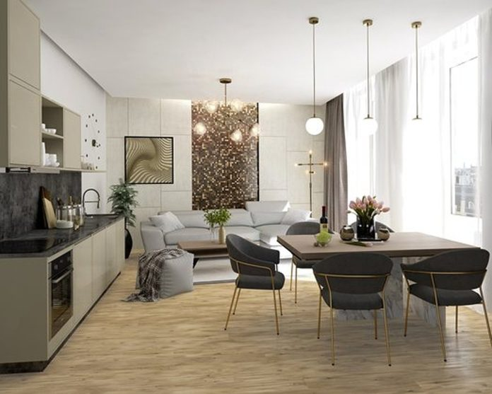 Pokoj - dispozice s kuchyní (Sigma Plaza)