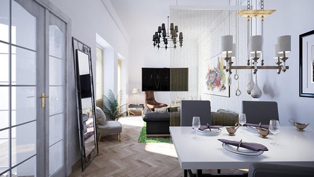 Dispoziční úpravy bytu - velký pokoj (Steffany´s Court)