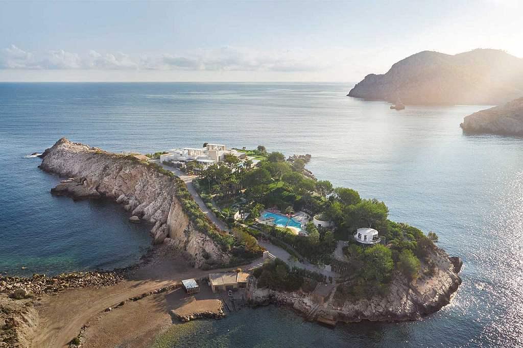 Isla sa Ferradura Ibiza - letecký pohled (VillaGuru.com)