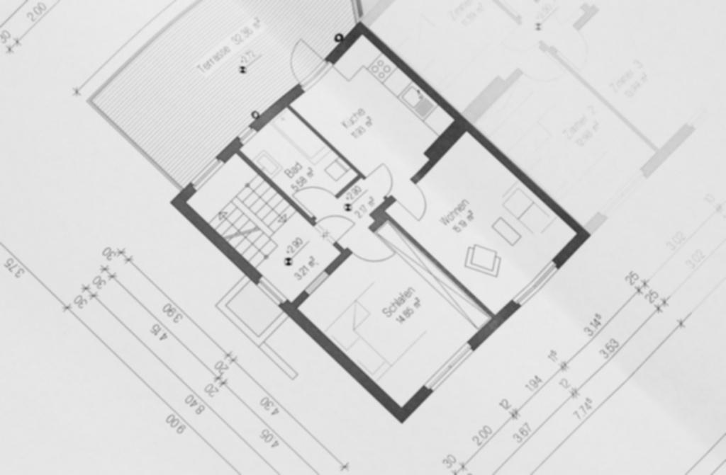 Orientace domu na pozemku - plán domu