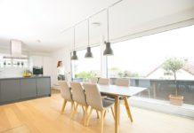 Zehnder Comfo Valve Luna E v kuchyni - širší pohled