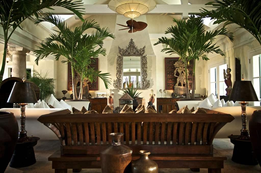 Musha Cay Bahamy - David Copperfield - obývací místnost (VillaGuru.com)