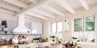 Větrací jednotka Korasmart 100 v kuchyni na chatě