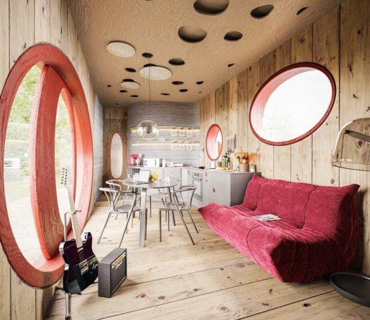 První český dům z 3D tisku PRVOK - vizualizace interiéru