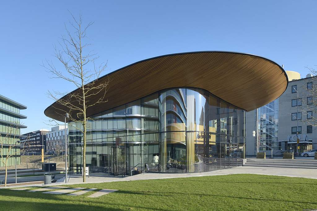 Budova ING Amsterdam, Nizozemsko, ohýbaná skla - foto č.3