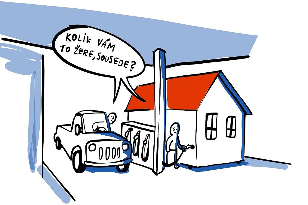 URSA Vtip spotřeba domu kolik vám to žere sousede