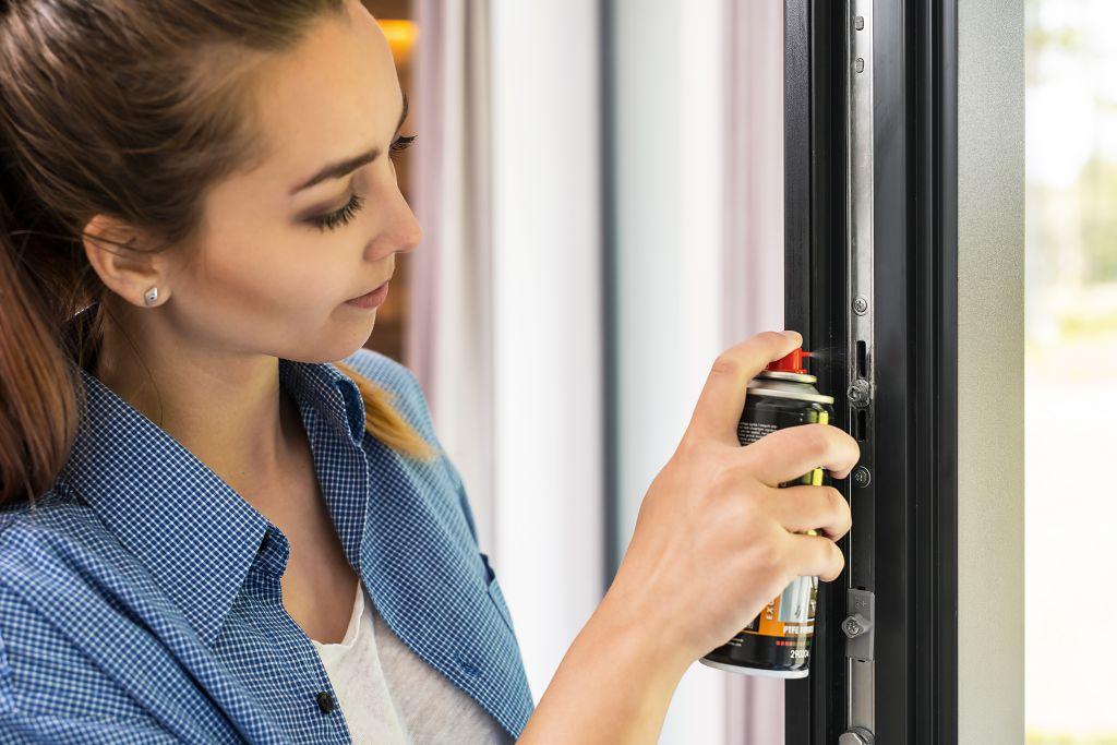 Čištění a údržba oken a dveří - promazání kování