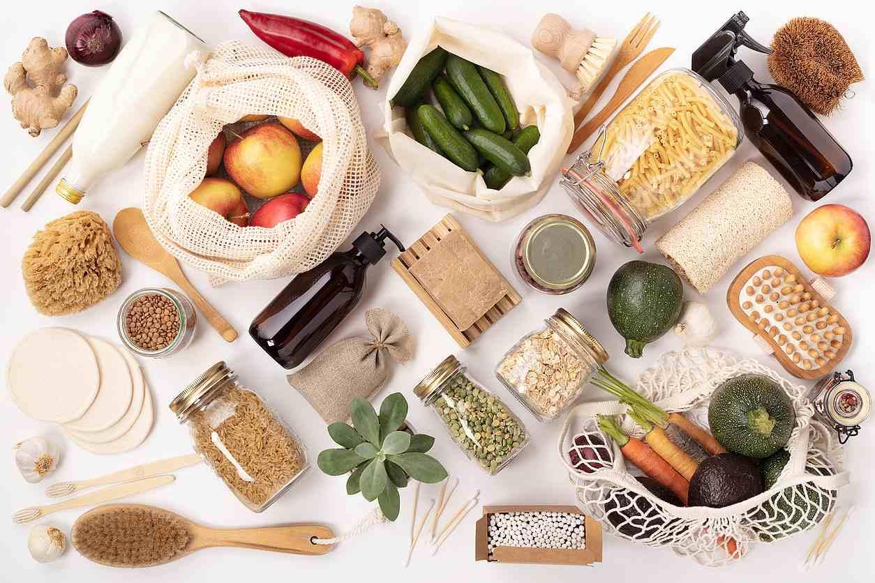Nákup bezobalových (bulk) potravin, úklidových prostředků a domácí chemie