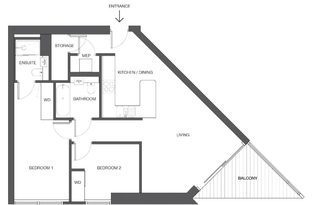 Uncle Elephant and Castle, London - ukázka 2 pokojového apartmánu (2+1)