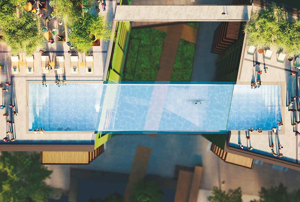 The Embassy Gardens Estate - Sky Pool 3
