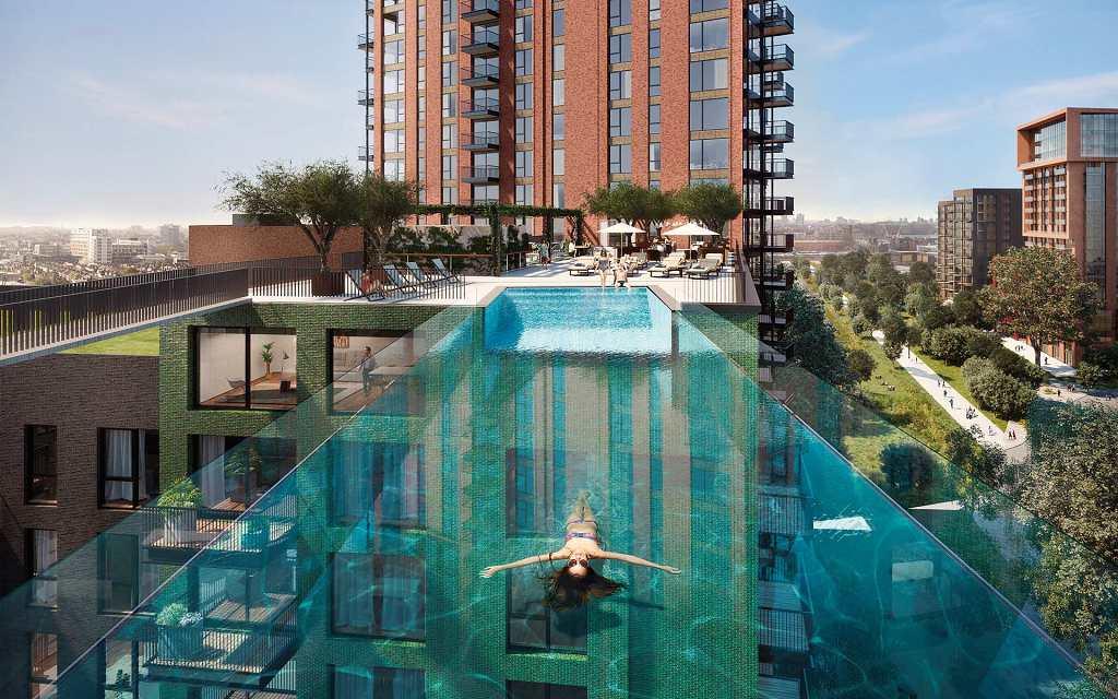 The Embassy Gardens Estate - Sky Pool 1