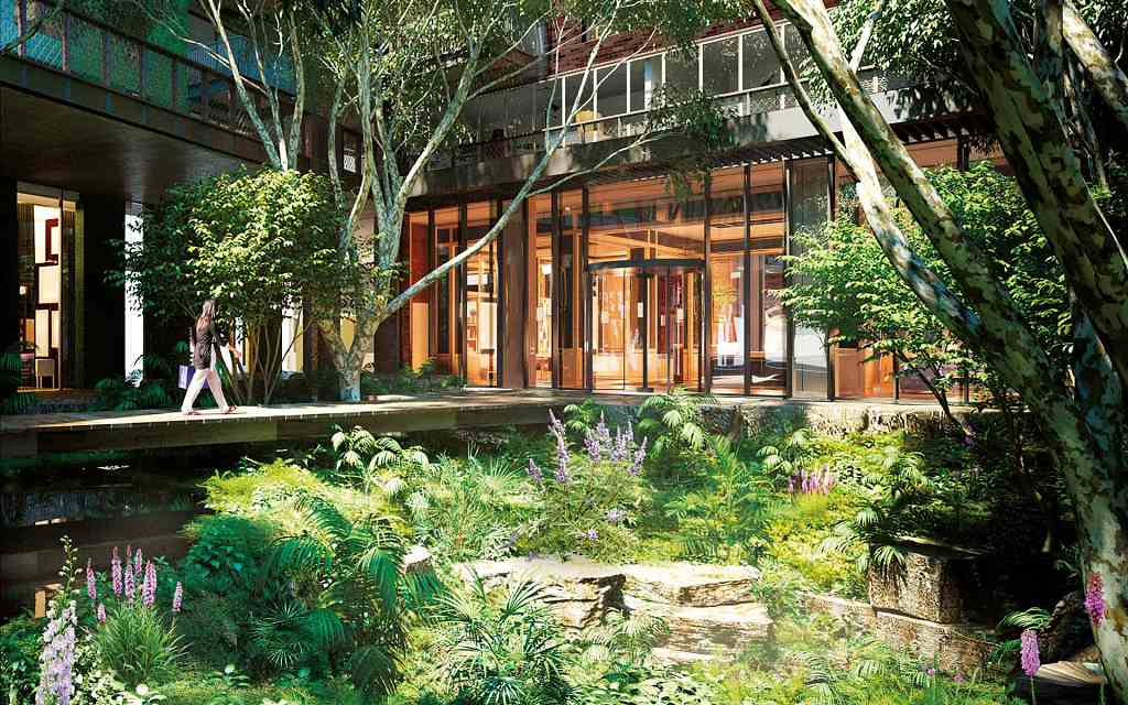 The Embassy Gardens Estate - patio